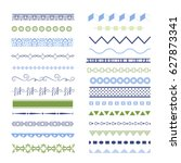 set of different borders. text... | Shutterstock .eps vector #627873341