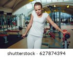 beautiful girl standing in the... | Shutterstock . vector #627874394