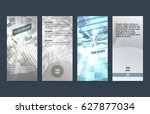 set silver abstract geometric... | Shutterstock .eps vector #627877034