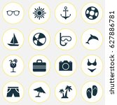 sun icons set. collection of... | Shutterstock .eps vector #627886781