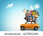 vacation and travel  a huge... | Shutterstock . vector #627891491