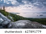 Scenic Landscape With Lake And...