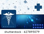 2d illustration health care and ... | Shutterstock . vector #627895079