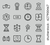 hour icons set. set of 16 hour...   Shutterstock .eps vector #627900467