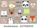 colorful collection for banners ... | Shutterstock .eps vector #627900935