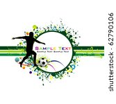 football colorful background. | Shutterstock .eps vector #62790106