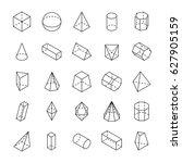 Huge Set Of 3d Geometric Shape...