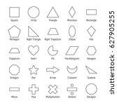 huge set of vector shapes... | Shutterstock .eps vector #627905255