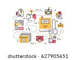 online education training line... | Shutterstock .eps vector #627905651