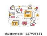 online education training line... | Shutterstock .eps vector #627905651