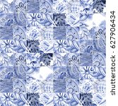 monochrome seamless texture... | Shutterstock . vector #627906434
