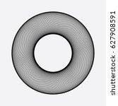 circle element  line design.... | Shutterstock .eps vector #627908591