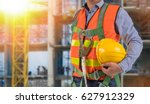 engineer wear fall arrest... | Shutterstock . vector #627912329