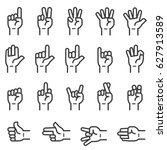hand sign icons | Shutterstock .eps vector #627913589
