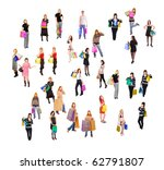shopping chaos | Shutterstock . vector #62791807