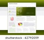 business website template in... | Shutterstock .eps vector #62792059