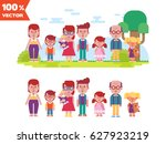 vector set of characters in a... | Shutterstock .eps vector #627923219