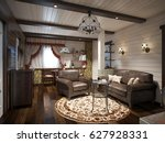 traditional rustic craftsman... | Shutterstock . vector #627928331