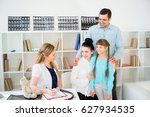 family doctor with patient   Shutterstock . vector #627934535