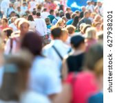 crowd of people walking on the... | Shutterstock . vector #627938201