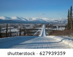 view along dalton highway... | Shutterstock . vector #627939359