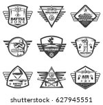 vintage monochrome military... | Shutterstock .eps vector #627945551