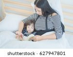 happy loving family young asian ... | Shutterstock . vector #627947801