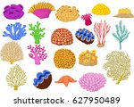 Set Of Colorful Corals  Clamp...