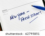 new year resolution marked in a ... | Shutterstock . vector #62795851