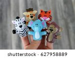 finger theater. puppet theater... | Shutterstock . vector #627958889