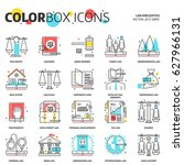 color box icons  law... | Shutterstock .eps vector #627966131
