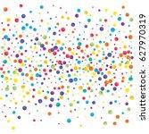 festive colorful round confetti ... | Shutterstock .eps vector #627970319