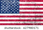 grunge flag of usa.vector... | Shutterstock .eps vector #627980171