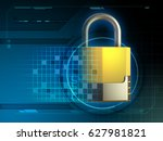 security padlock merged with... | Shutterstock . vector #627981821