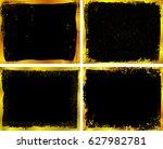golden grunge frames.grunge... | Shutterstock .eps vector #627982781