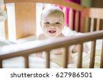 a close up portrait of a... | Shutterstock . vector #627986501