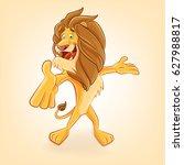 lion cartoon | Shutterstock .eps vector #627988817