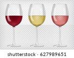 set of realistic transparent... | Shutterstock .eps vector #627989651