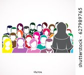 conference. speaker icon....   Shutterstock .eps vector #627989765
