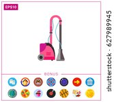 electric fabric steamer vector... | Shutterstock .eps vector #627989945