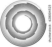 radial geometric element series.... | Shutterstock .eps vector #628004525