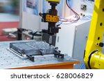 cnc turning machine drilling...   Shutterstock . vector #628006829