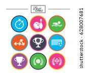 sport games  fitness icons.... | Shutterstock .eps vector #628007681