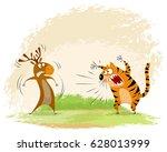 vector illustration of a tiger...   Shutterstock .eps vector #628013999