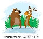 vector illustration of a bear...   Shutterstock .eps vector #628014119