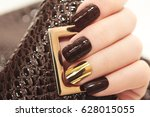 glamorous luxurious brown... | Shutterstock . vector #628015055