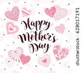 happy mothers day greeting card.... | Shutterstock .eps vector #628017191