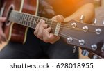 playing perfect riff.  | Shutterstock . vector #628018955