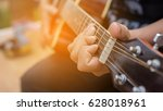 playing perfect riff.  | Shutterstock . vector #628018961