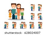 different types of families.... | Shutterstock .eps vector #628024007